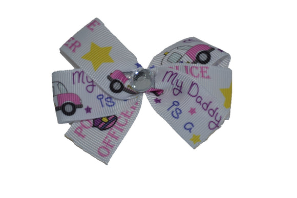 My Daddy is a Police Officer Bow (Service) - Dream Lily Designs