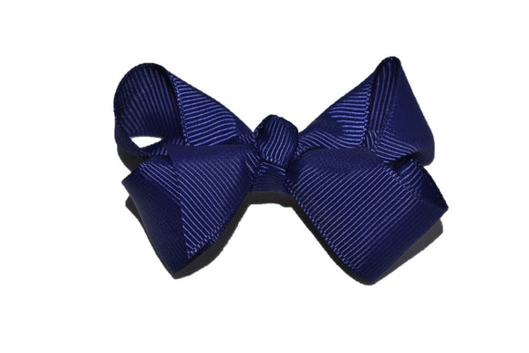 Navy Blue 2.5 Inch Boutique Hair Bow - Dream Lily Designs