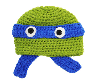 Blue Ninja Turtle Crochet Hat - Dream Lily Designs
