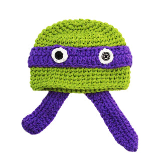 Purple Ninja Turtle Crochet Hat - Dream Lily Designs