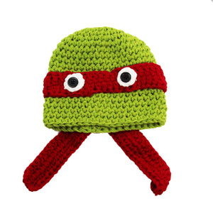 Red Ninja Turtle Crochet Hat - Dream Lily Designs
