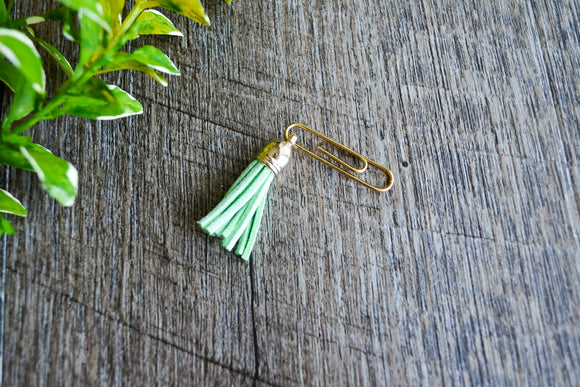 Cute Bookmark - Tassle - Mint Green - Dream Lily Designs