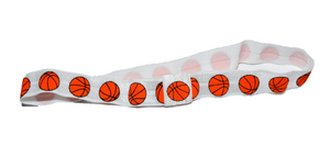 Basketball Patterned Elastic Headband - Dream Lily Designs