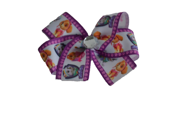 Paw Patrol Purple Skye Everest Bow (Misc Characters) - Dream Lily Designs