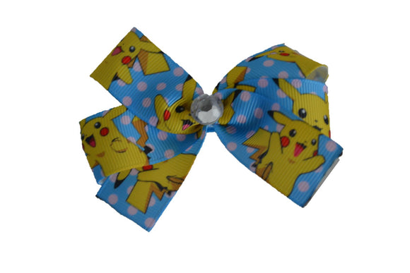 Blue Pokemon Pikachu Bow (Misc Characters) - Dream Lily Designs