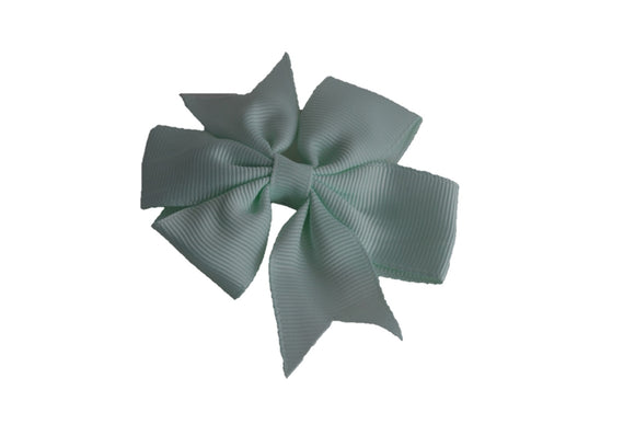 Light Mint Pinwheel Hair Bow Clip - Dream Lily Designs
