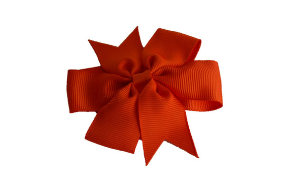 Orange Pinwheel Hair Bow Clip - Dream Lily Designs