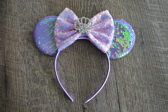 Purple Crown Minnie Mouse Deluxe Headband - Dream Lily Designs