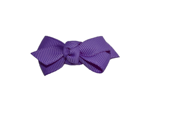 Knot Baby Snap Clip - Purple - Dream Lily Designs