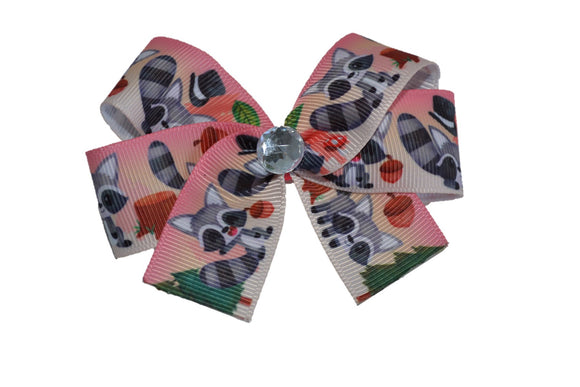 Raccoon Bow (Animal) - Dream Lily Designs