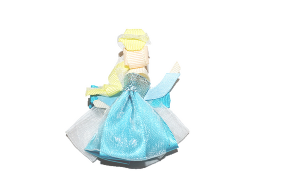 Princess Ribbon Sculpture Hair Clip - Elsa Frozen - Dream Lily Designs