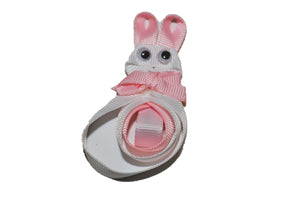 Animal and Bug Easter Ribbon Sculpture Hair Clip - White Bunny - Dream Lily Designs