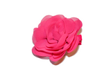 Hot Pink Rose Chiffon Clip - Dream Lily Designs