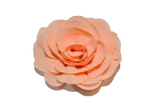 Peach Rose Chiffon Clip - Dream Lily Designs