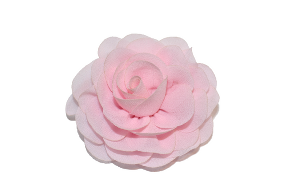 Light Pink Rose Chiffon Clip - Dream Lily Designs