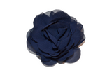 Navy Blue Rose Chiffon Clip - Dream Lily Designs