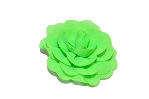 Lime Green Rose Chiffon Clip - Dream Lily Designs