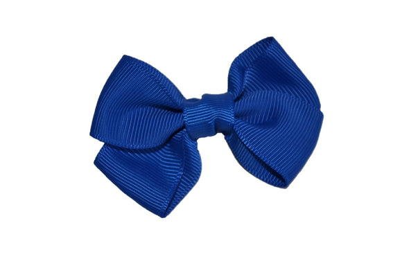 Royal Blue Small Double Loop Hair Bow Clip - Dream Lily Designs
