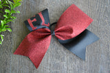 Black and Red Sparkle Cheer Bow - Dream Lily Designs