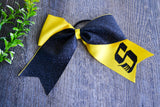 Yellow and Black Sparkle Cheer Bow - Dream Lily Designs