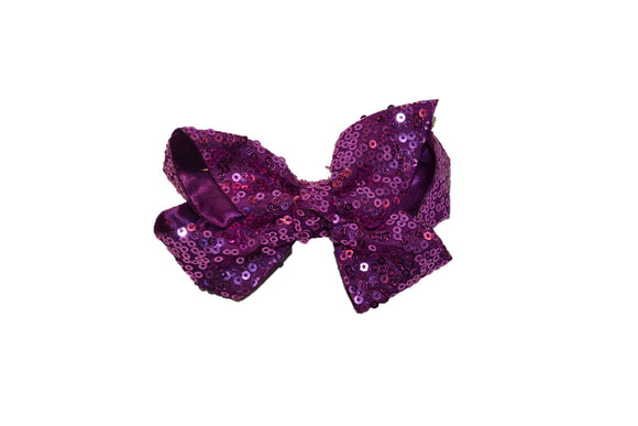 Light Purple sequin 4 Inch Boutique Hair Bow - Dream Lily Designs