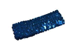 "Blue 2"" Sequin Headband - Dream Lily Designs"