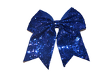 Sequin Sparkle Cheer Bow - Royal Blue - Dream Lily Designs