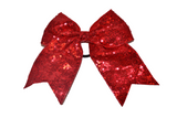 Sequin Sparkle Cheer Bow - Red - Dream Lily Designs
