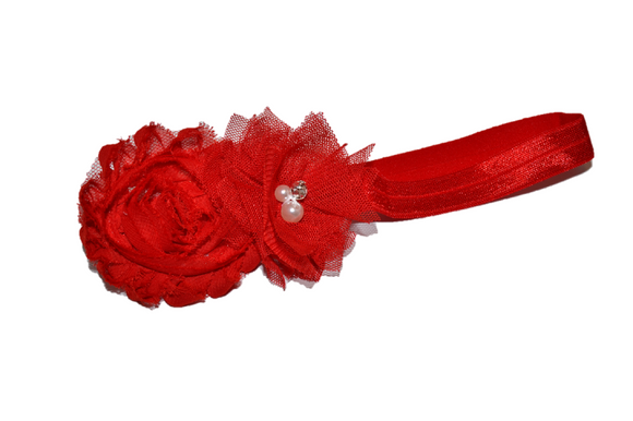 Red Shabby Tulle Headband