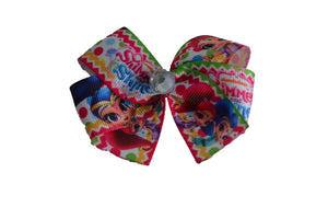 Shimmer and Shine Hot Pink Bow (Misc Characters) - Dream Lily Designs