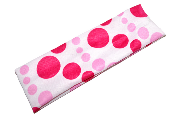 Nylon Polka Dot Headband - Light Pink