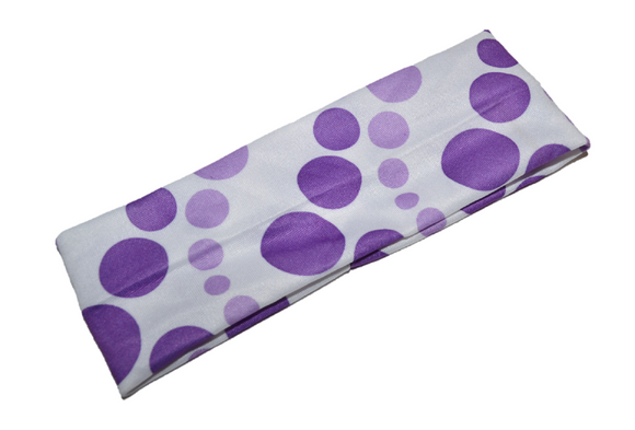Nylon Polka Dot Headband - Purple