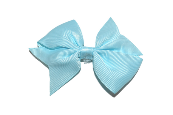 Light Blue Simple Hair Bow Clip - Dream Lily Designs