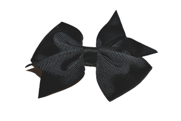 Black Simple Hair Bow Clip