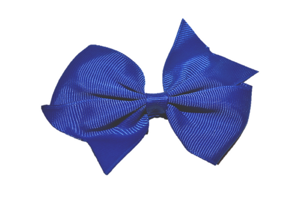 Royal Blue Simple Hair Bow Clip - Dream Lily Designs