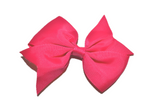 Hot Pink Simple Hair Bow Clip - Dream Lily Designs