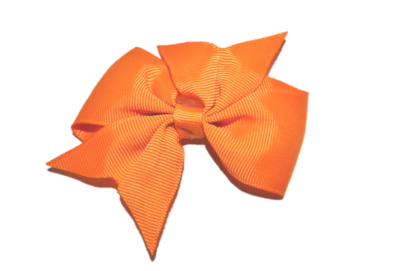 Orange Simple Hair Bow Clip