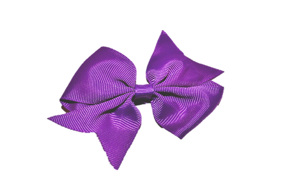 Royal Purple Simple Hair Bow Clip - Dream Lily Designs