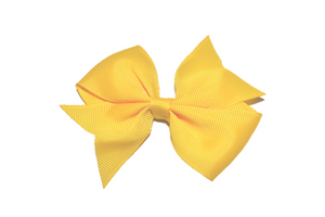 Yellow Simple Hair Bow Clip - Dream Lily Designs