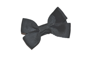 Black Tiny Hair Bow Clip - Dream Lily Designs