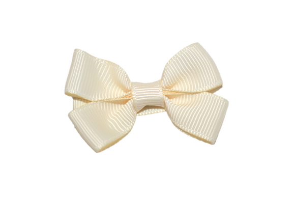 Ivory Tiny Hair Bow Clip - Dream Lily Designs