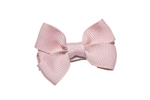 Dusty Rose Tiny Hair Bow Clip - Dream Lily Designs