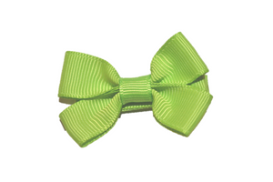 Bright Green Tiny Hair Bow Clip - Dream Lily Designs