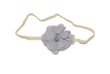 Grey Single Skinny Chiffon Headband - Dream Lily Designs