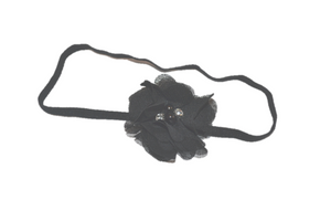 Black Single Skinny Chiffon Headband - Dream Lily Designs