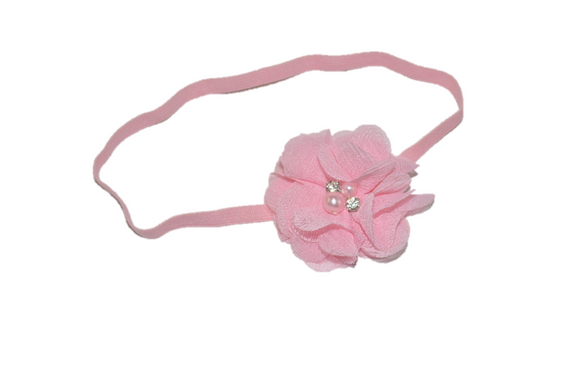 Light Pink Single Skinny Chiffon Headband