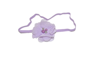 Light Purple Single Skinny Chiffon Headband - Dream Lily Designs