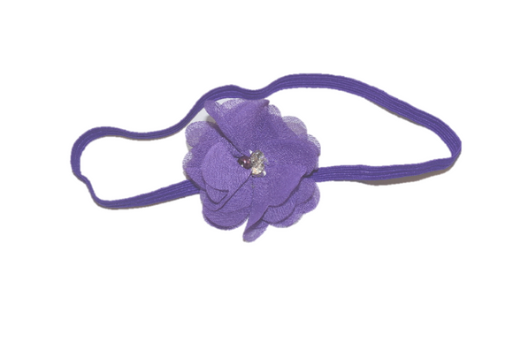 Purple Single Skinny Chiffon Headband - Dream Lily Designs