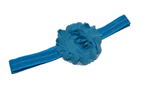 Blue Shabby Flower Headband - Dream Lily Designs