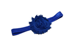 Dark Blue Shabby Flower Headband